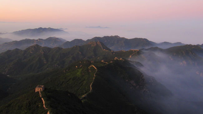 View from Beijing's highest Great Wall watch tower