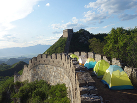 Great wall  camping in Beijing