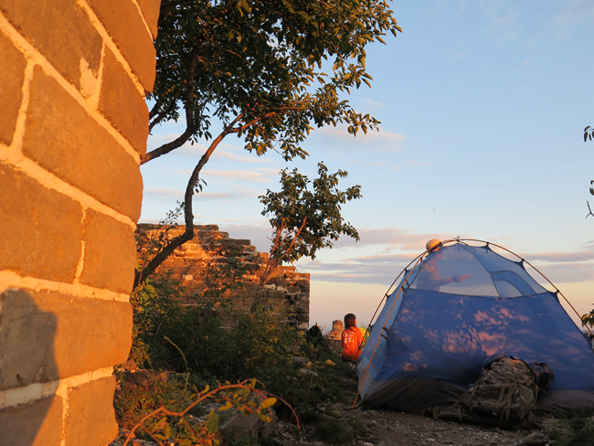 Great wall camping, great wall trekking