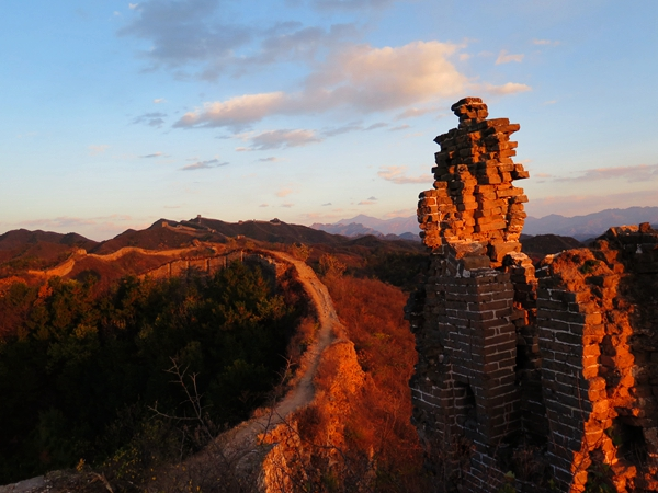Great Wall hiking, Great wall camping