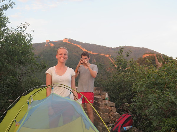 Jiankou Jinshanling Gubeikou Great wall camping. Pitch your tent on the Great Wall, in a watch tower or.... do like these 2 an put your tent on top of watch tower.