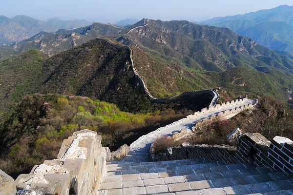 sunset Great Wall to Chen Castle Great Wall camping