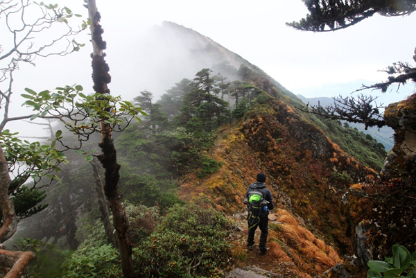 hiking and camping in Yunnan Province ;