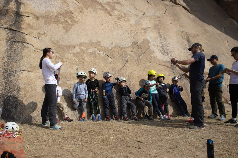 Rock climbing classes for kids in Beijing