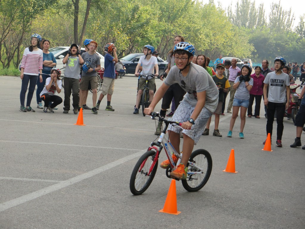 Enhance cycling skills through games