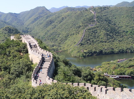 Start of the hike at water Great Wall